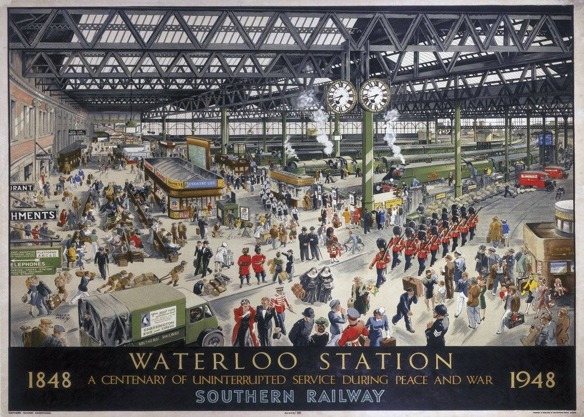 Waterloo Station 1848-1948 poster