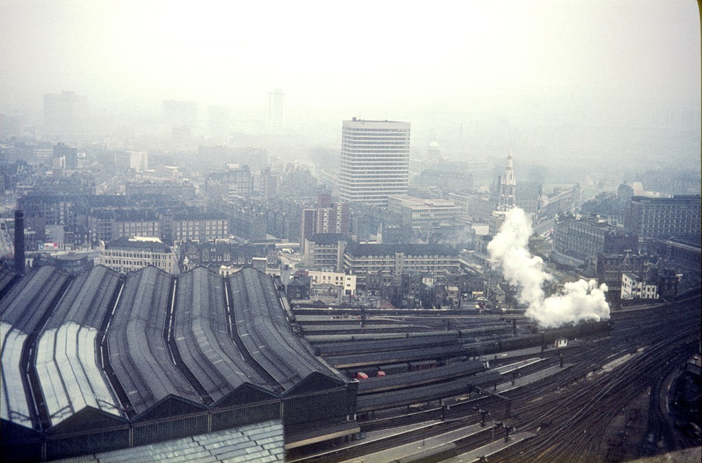 Waterloo Station from Shell Tower- c. March 1964.