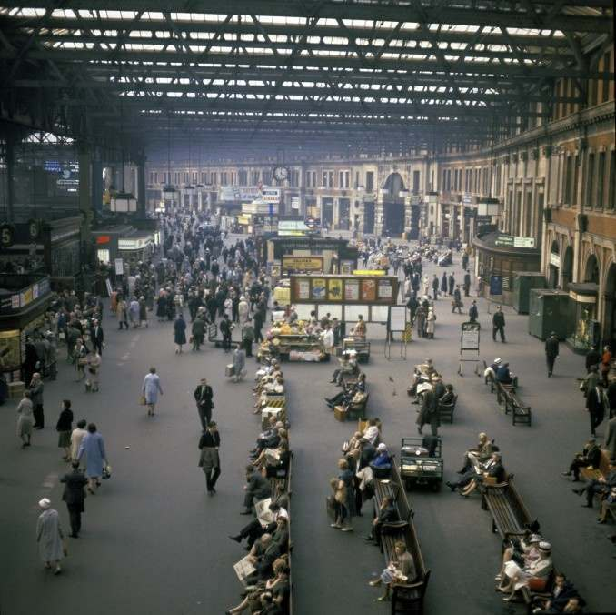 Waterloo Station in 1964