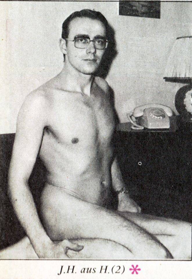 Vintage men topless shirtless sexy mid-century