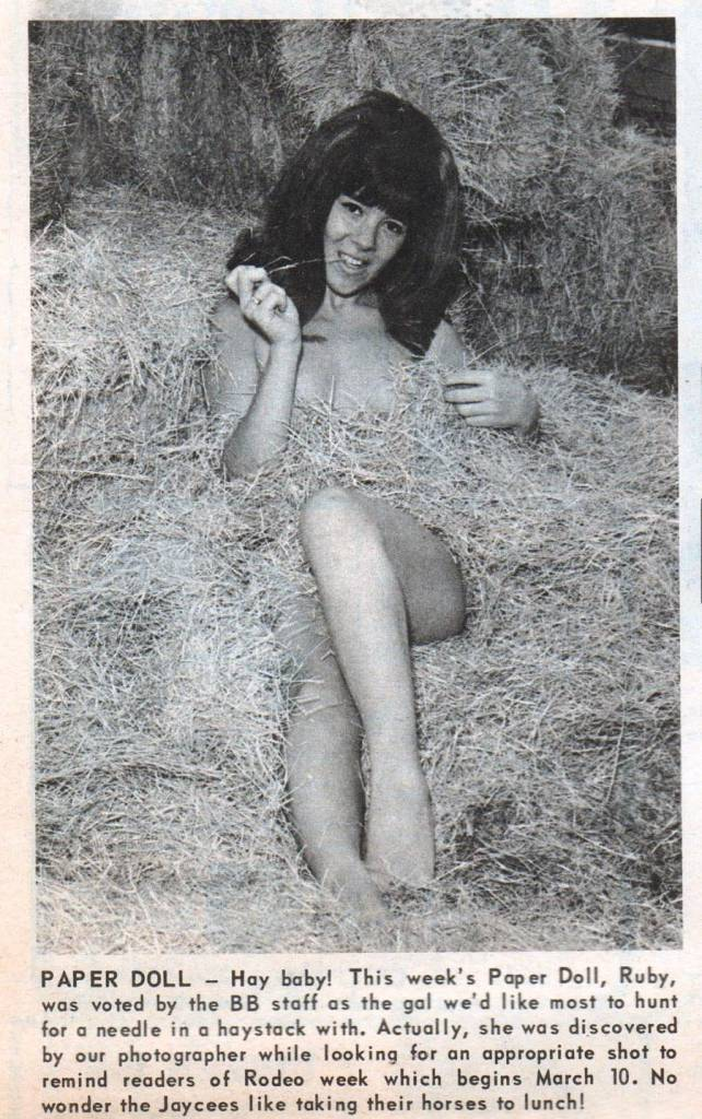 sexy in straw 1960s naked