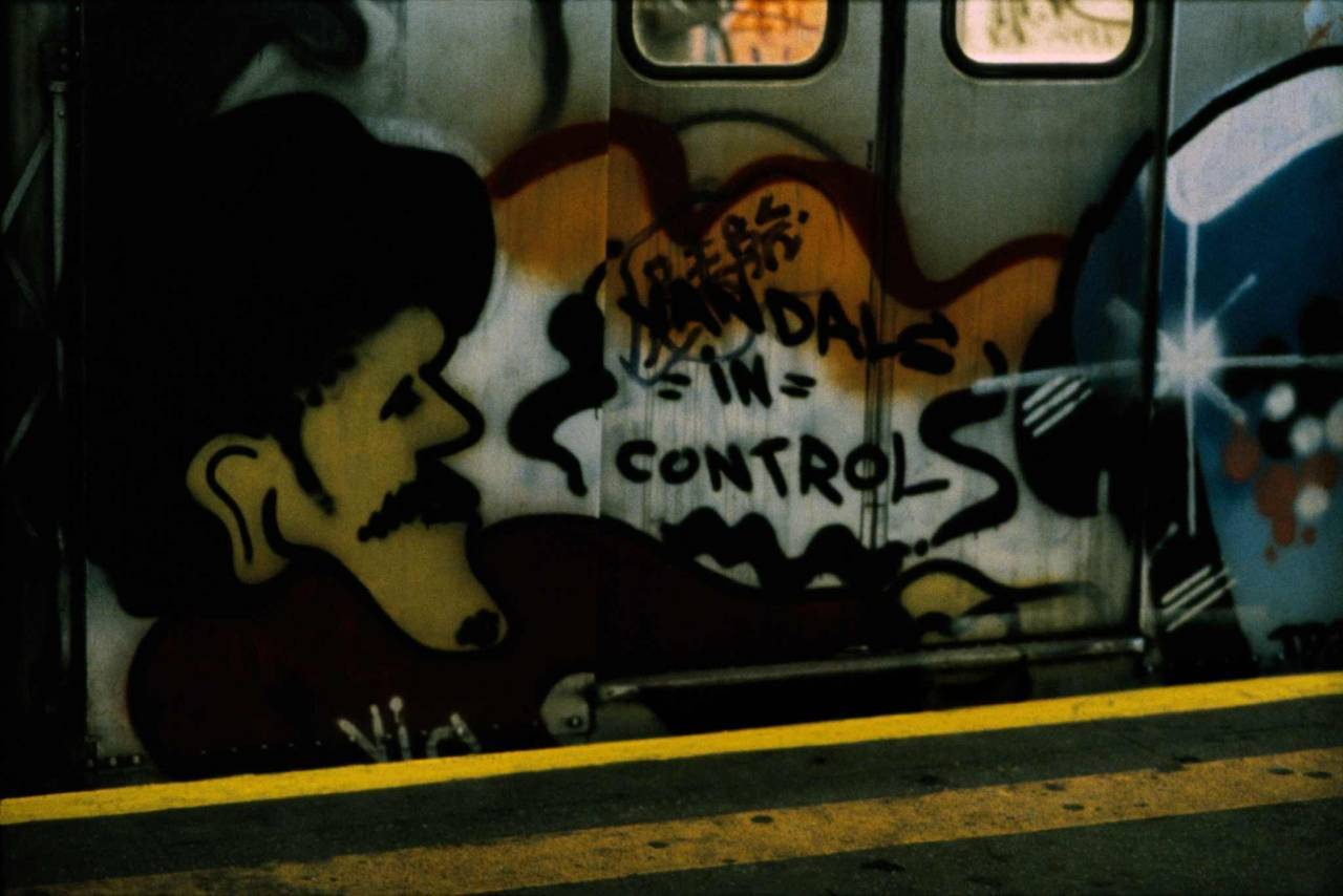 1983, New York, graffiti in the subway