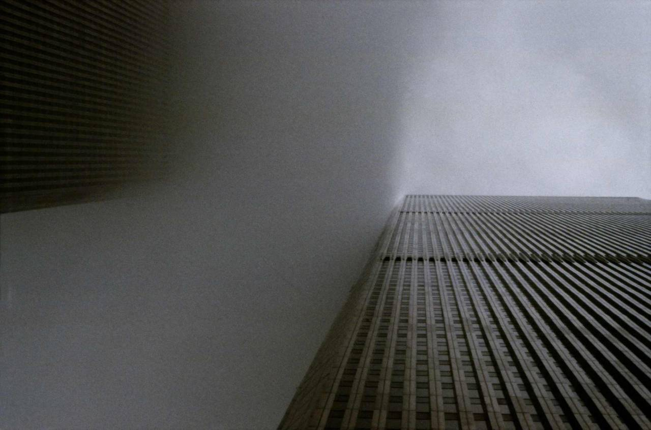 1984, New York, World Trade Towers in a cloud