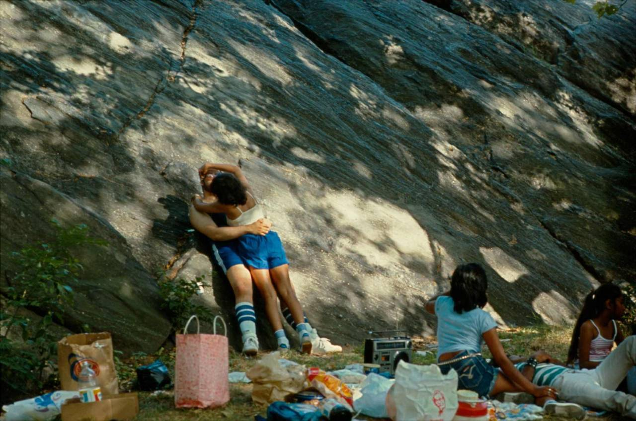 1984, New York, picnic in Central Park