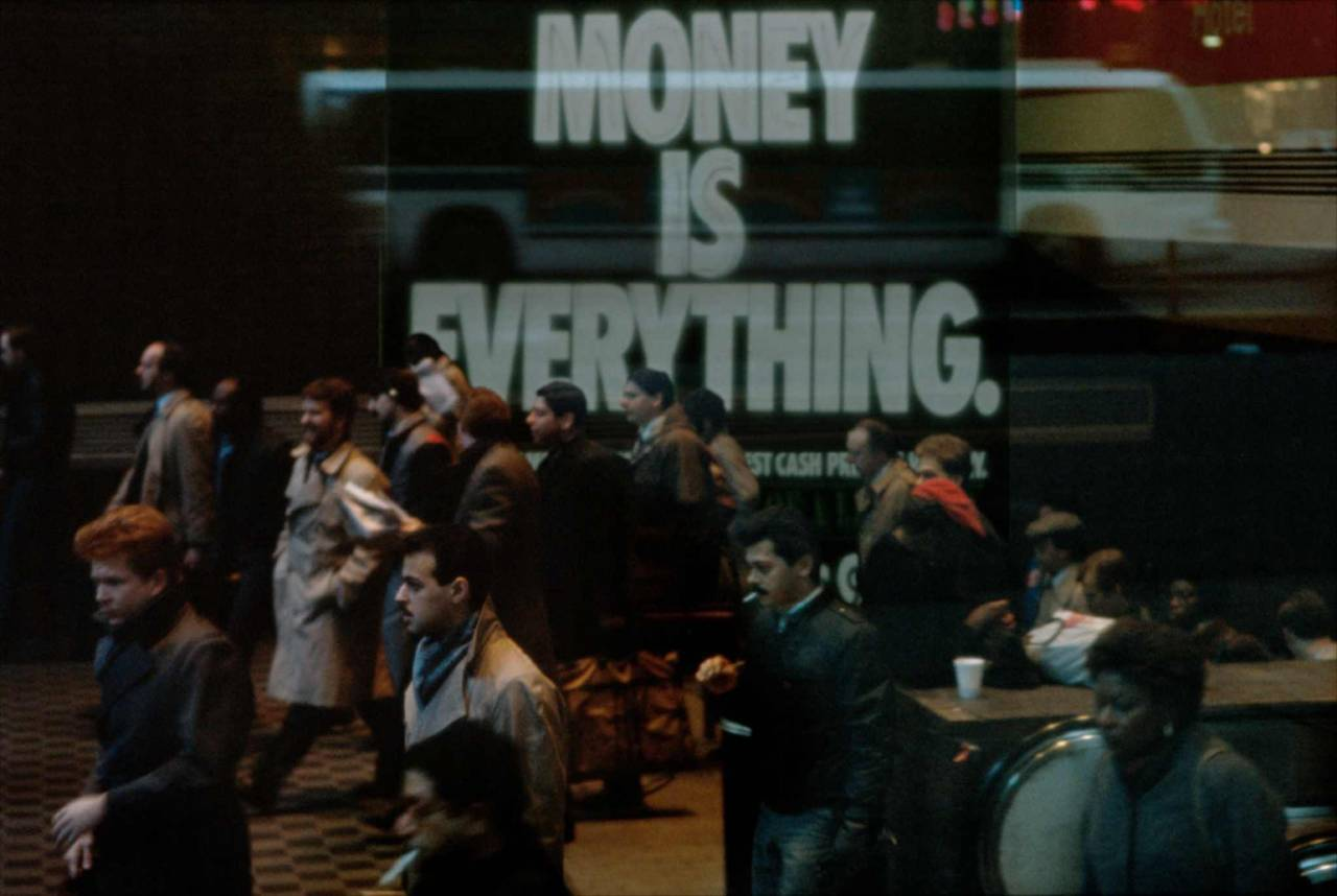 1986, New York, money is everything