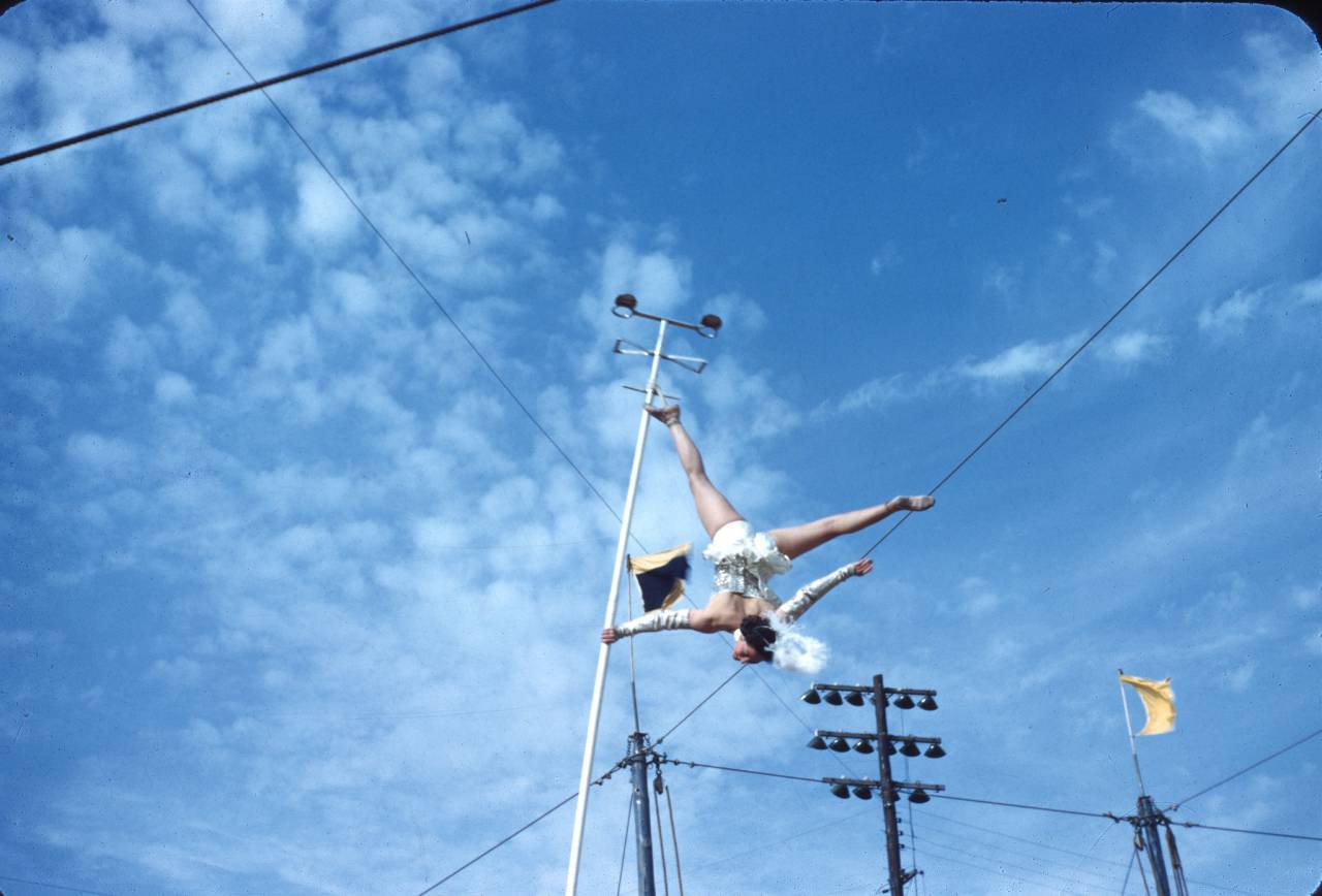 Acrobat at Gainesville Circus c.1954