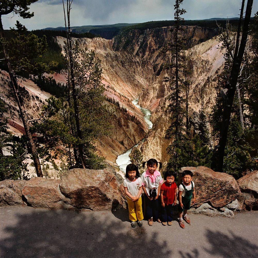 Children-at-Grand-Canyon-of-the-Yellowstone-Yellowstone-National-Park-WY-1980