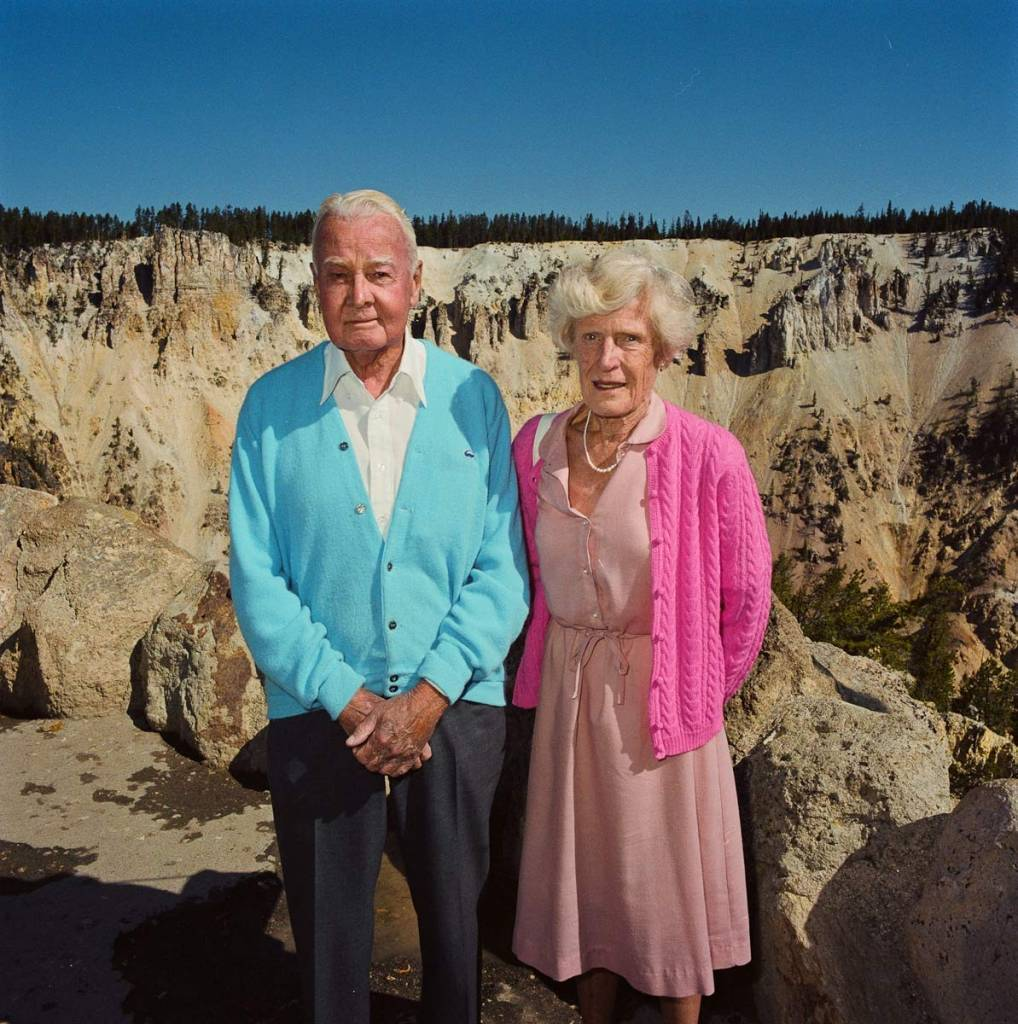 Couple-at-Grand-Canyon-of-the-Yellowstone-Yellowstone-National-Park-WY-1980-e1336770026137