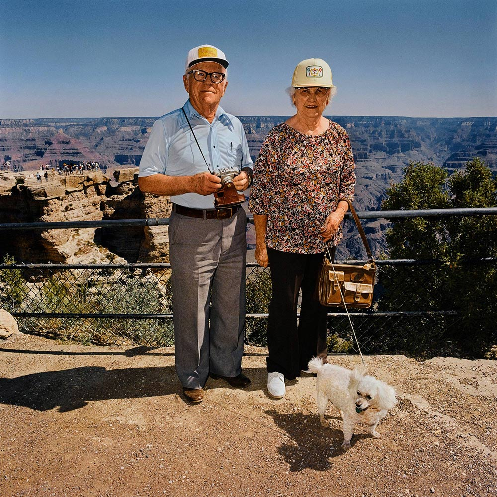 Couple-with-Poodle-Grand-Canyon-National-Park-AZ-1980