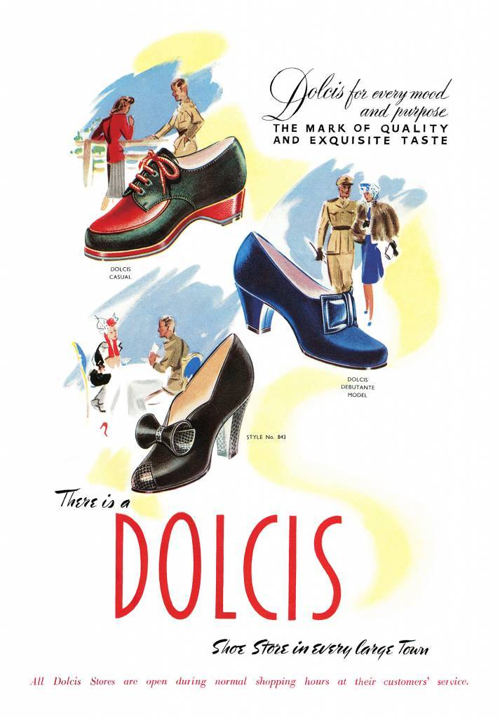 Dolcis Shoes WW2 advert from 1944