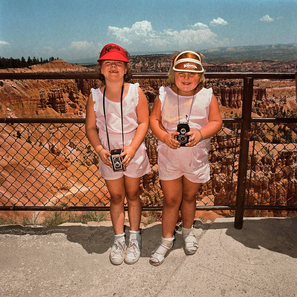 Girls-in-Matching-Pink-at-Sunset-Point-Bryce-Canyon-National-Park-UT-1980