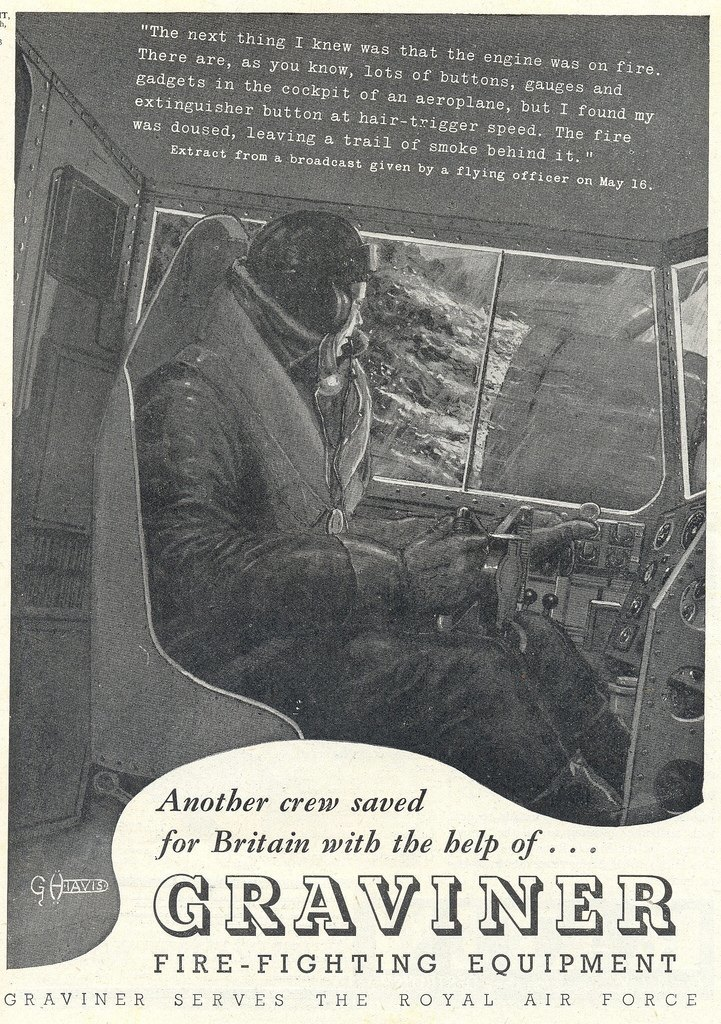 Graviner Fire-fighting Equipment This ad appeared in the October 9th, 1941 edition of Flight
