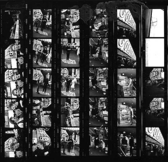 Contact sheet of photographs taken by Hauser of McLaren and Johnston in Las Vegas, 1978. © Fayette Hauser