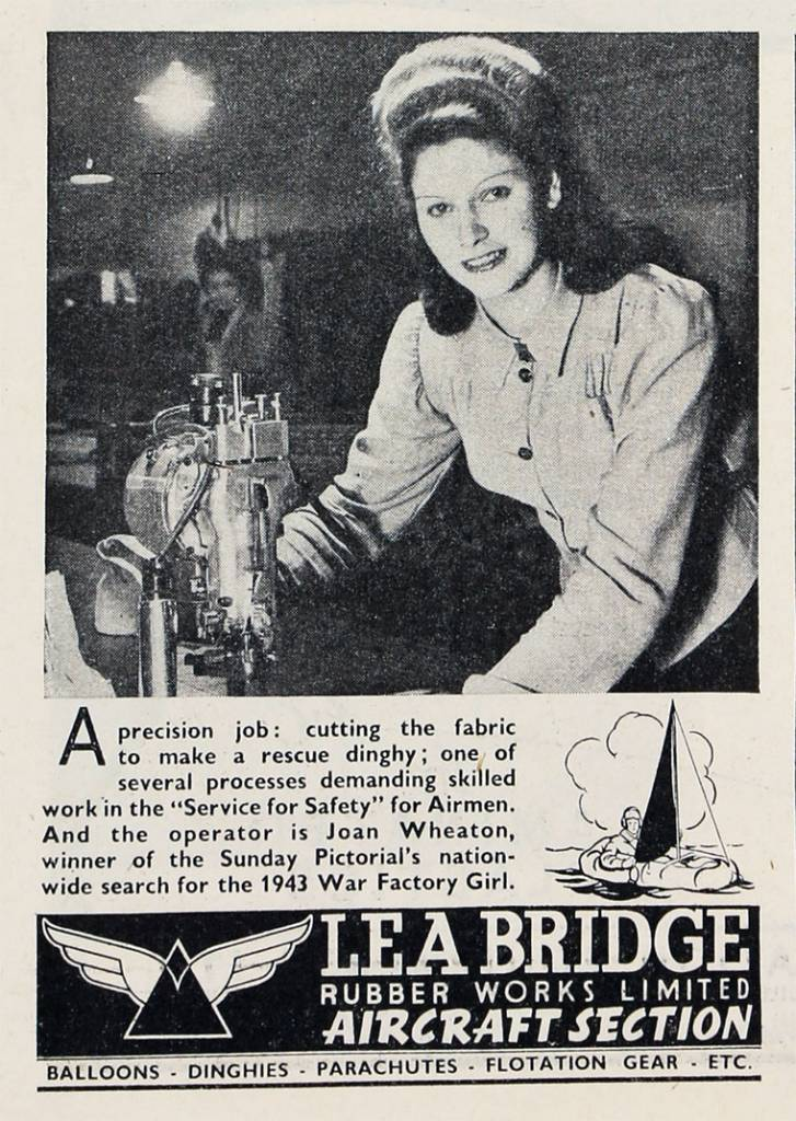Lea Bridge Rubber Works ad from 1943