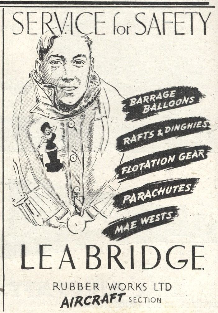 Lea Bridge Rubber Works Ltd. This ad appeared in the October 9th, 1941 edition of Flight