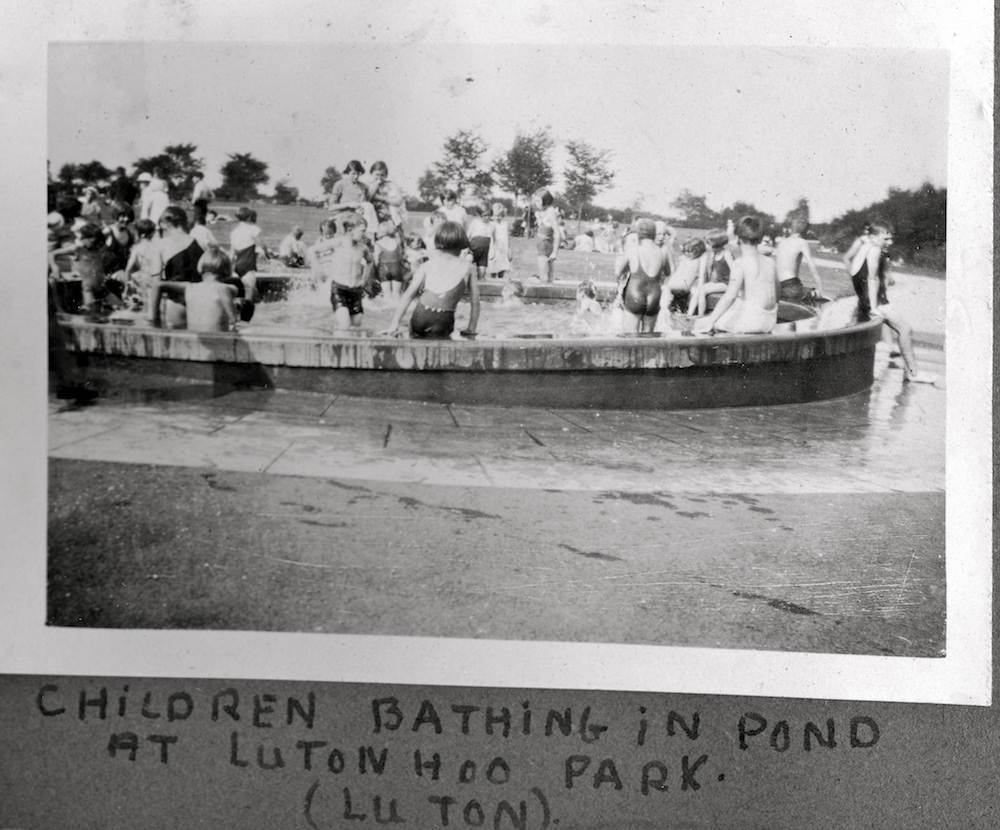 Luton Hoo Park children vintage bathing water