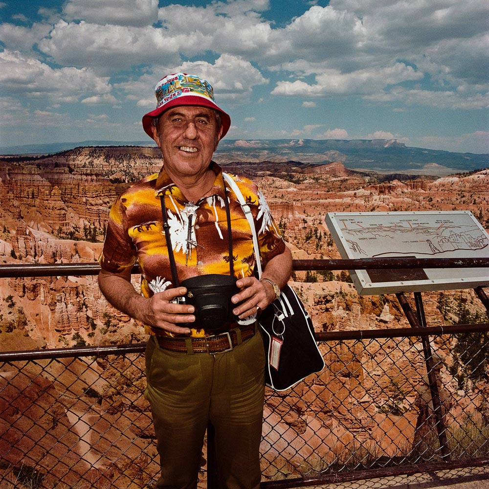 Man-Wearing-Hawaiian-Shirt-at-Sunrise-Point-Bryce-Canyon-National-Park-UT-1980
