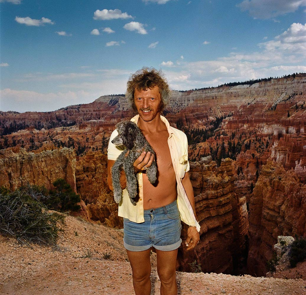 Man-with-Dog-at-Sunset-Point-Bryce-Canyon-National-Park-UT-1980