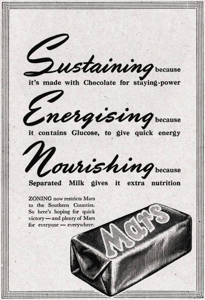 Mars advert southern counties September 1943 copy