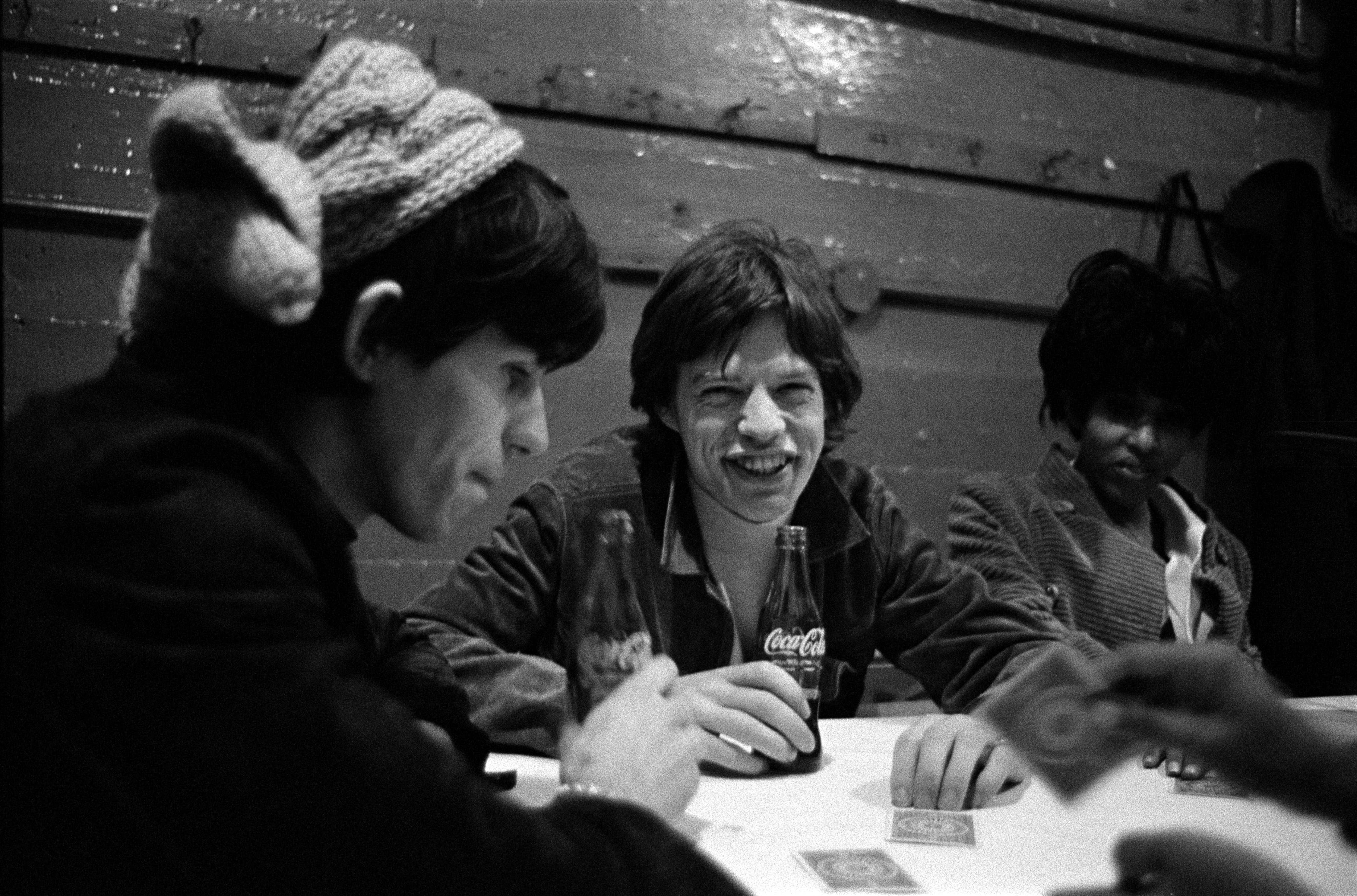 Keith Richards Amp Mick Jagger With Nona Hendrix Backstage