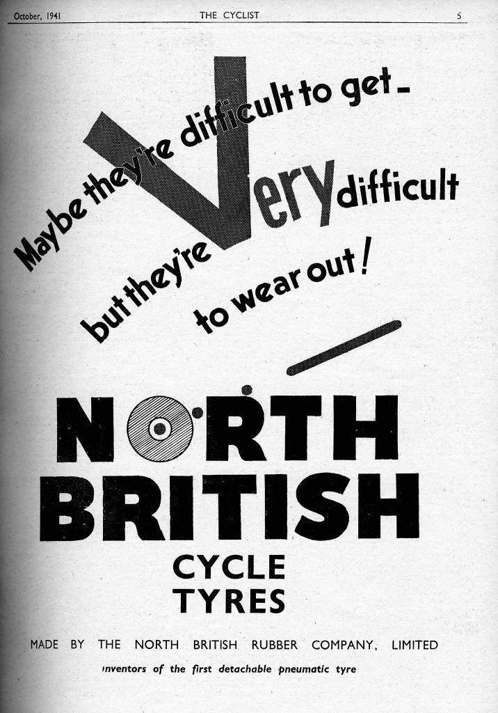 North British Cycle Tyres Practical Mechanics incorporating The Cyclist, October 1941