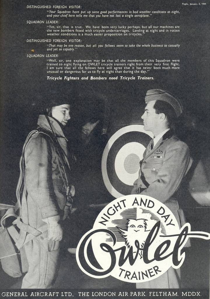 Owlet Trainer This ad appeared in the January 2nd, 1941 issue of Flight