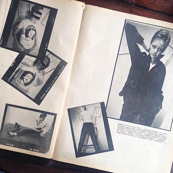 Seditionaries spread in LA's Slash #2, June 1977. Models Rory Johnston and Dot Dammett, stockist: Granny Takes A Trip's outlet on Sunset, run by Freddie Hornik