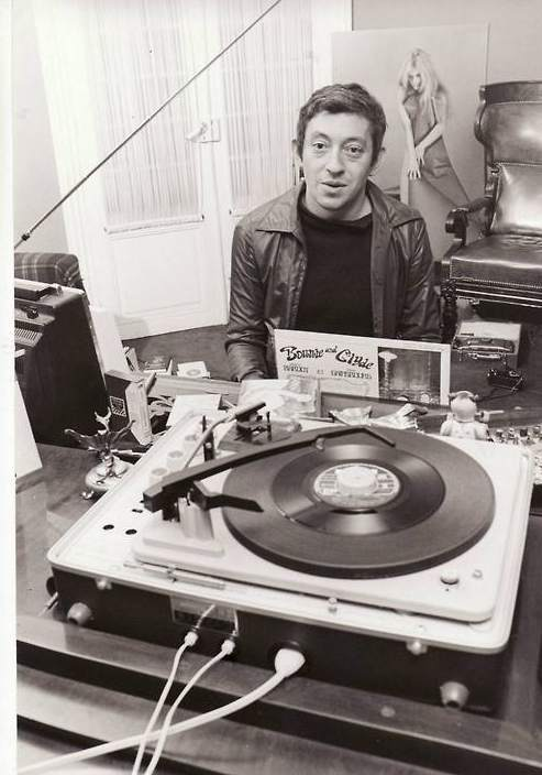 Serge Gainsbourg playing his own records