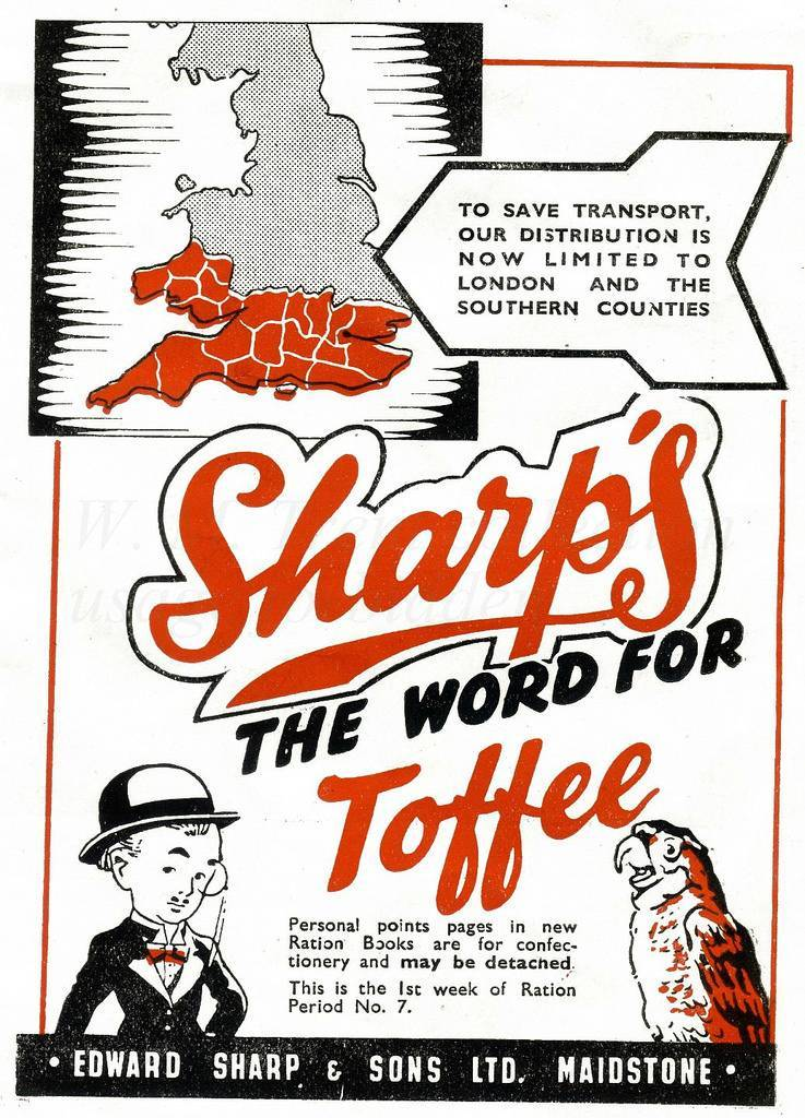 Sharp's Toffees ad 1944
