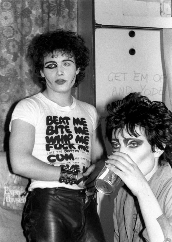 Mandatory Credit: Photo by Ray Stevenson/REX/Shutterstock (565169h) Adam Ant and Siouxsie Sioux ADAM AND THE ANTS AT THE MUSIC MACHINE, LONDON, BRITAIN - c 1977