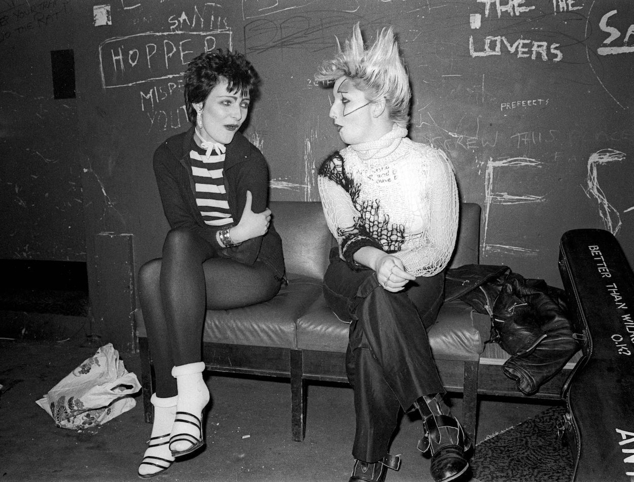 Mandatory Credit: Photo by Ray Stevenson/REX/Shutterstock (458103b) Siouxsie Sioux and Jordan SIOUXSIE SIOUX AND JORDAN, LIVERPOOL, BRITAIN - 1978