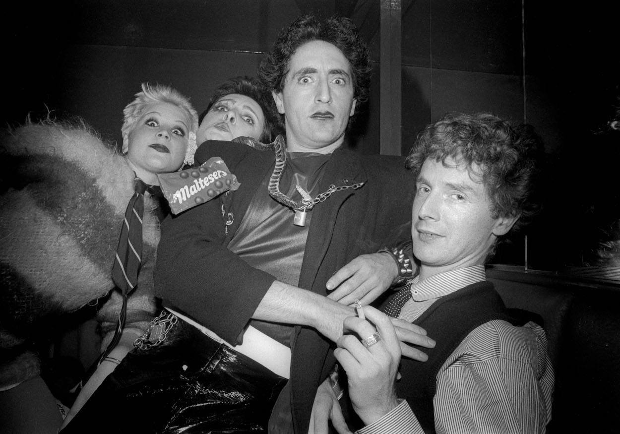 Mandatory Credit: Photo by Ray Stevenson/REX/Shutterstock (581295bo) Debbie Juvenile, Siouxsie Sioux, Philip Salon and Malcolm McLaren at Louises - 1976 Various