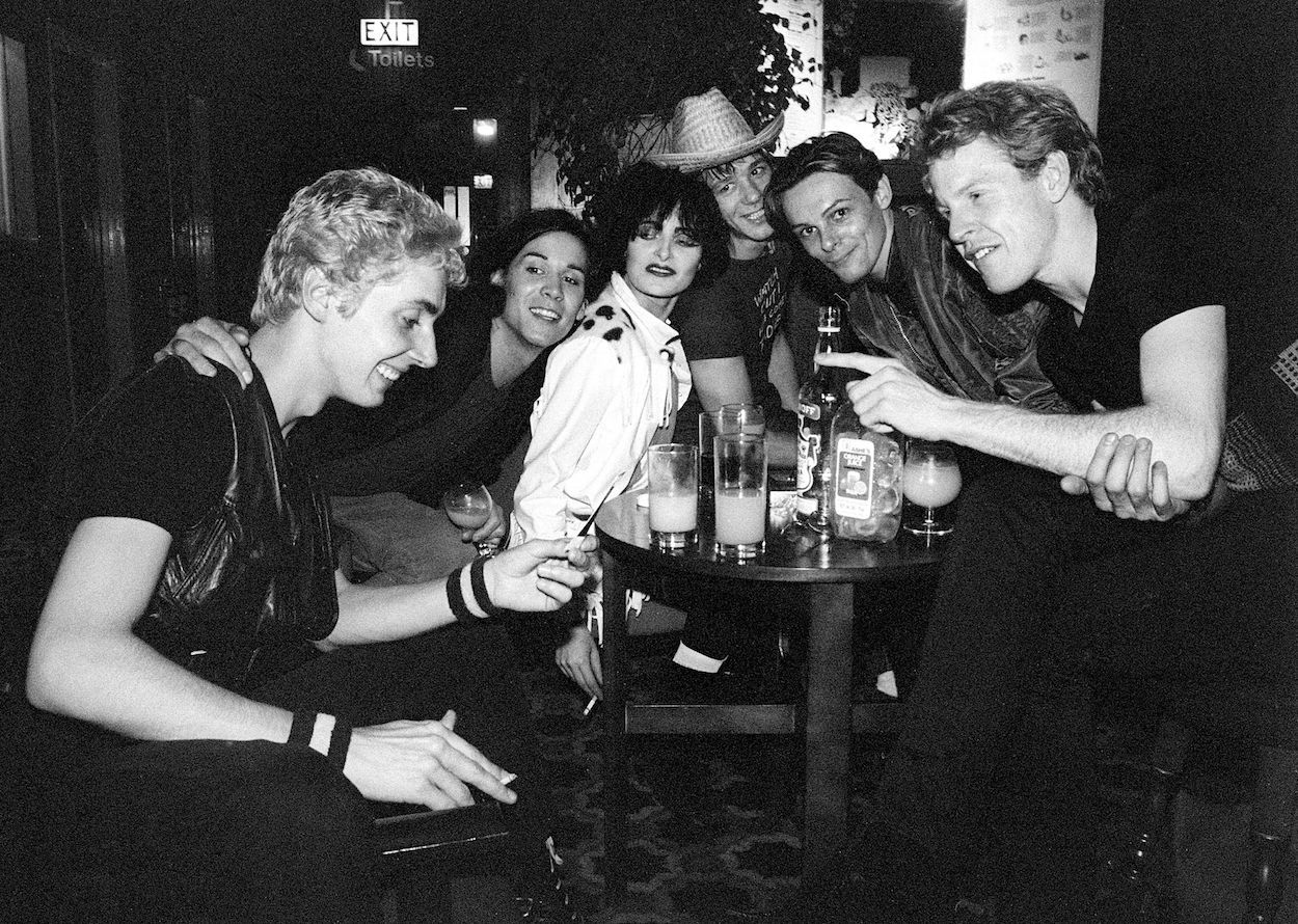 Mandatory Credit: Photo by Ray Stevenson/REX/Shutterstock (671930je) Siouxsie and the Banshees and the Human League - Budgie, Phil Oakey, Siouxsie Sioux, ?, Ian Craig Marsh and Philip Adrian Wright Various