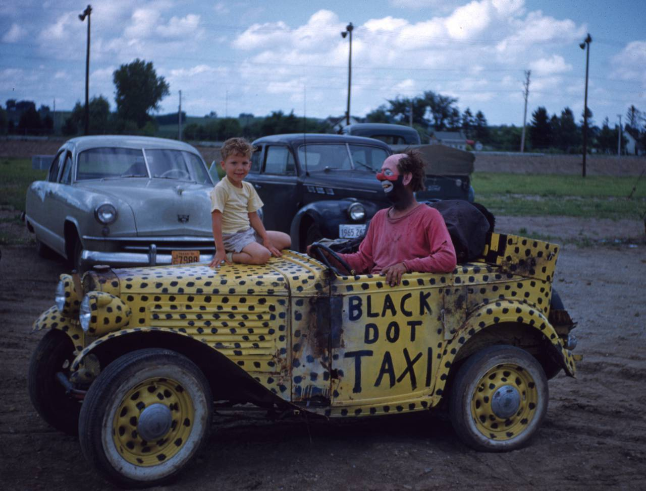 Slivvers the Clown, 1954 in car Vern Orton