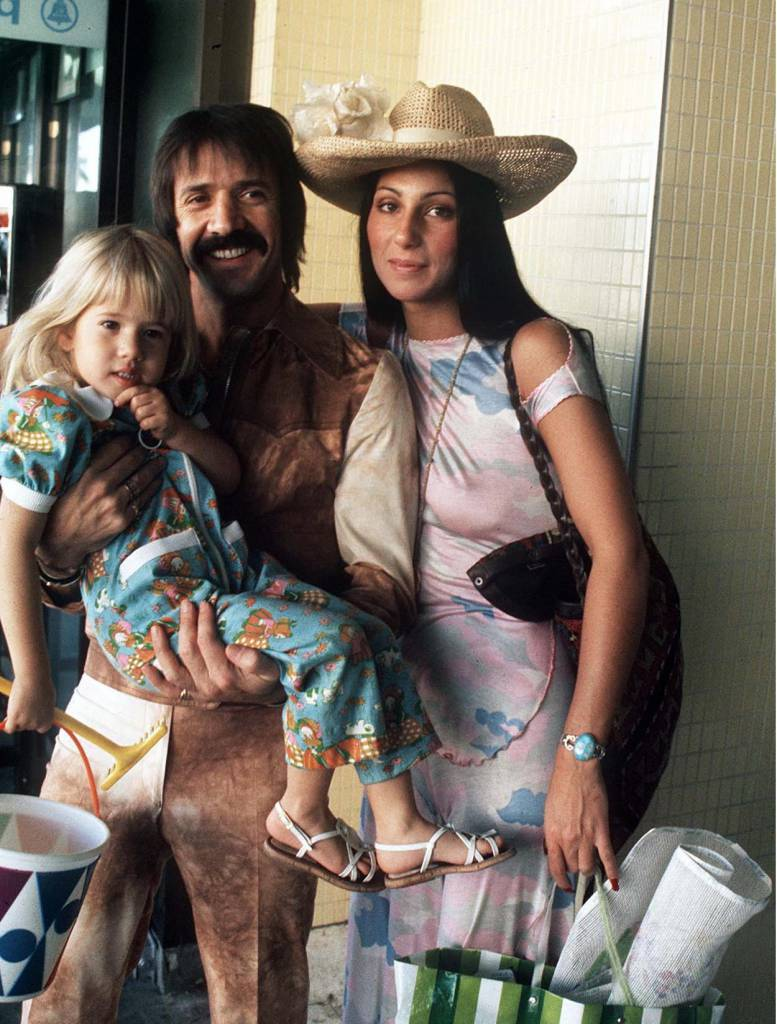 1973 Cher and Sonny Bono with child young daughter Chastity
