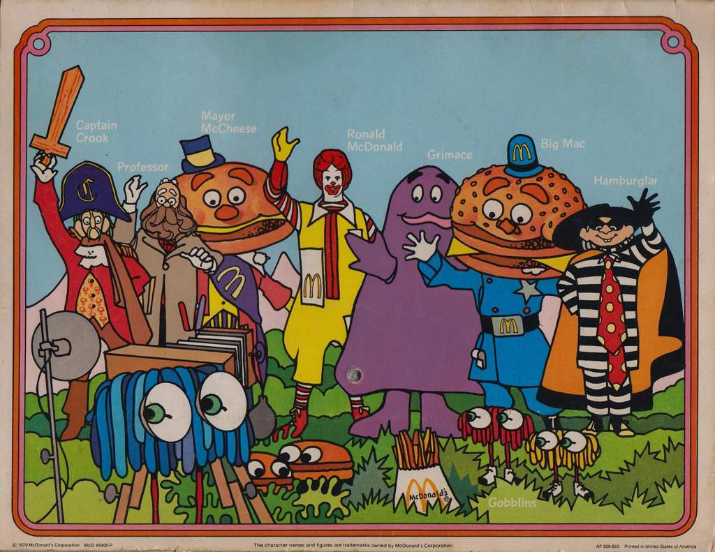 The back of the 1980 Coloring Calendar. This picture features the entire gang, circa 1979