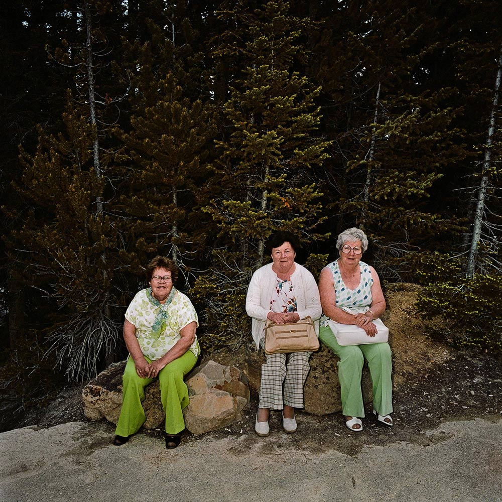 Three-Women-Resting-Yellowstone-National-Park-WY-1980