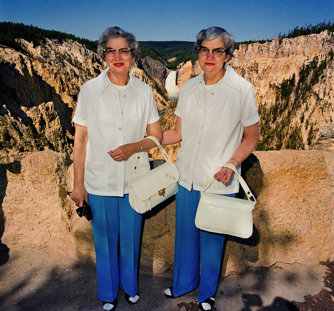 Twins-with-Matching-Outfits-at-Lower-Falls-Overlook-Yellowstone-National-Park-WY-1980