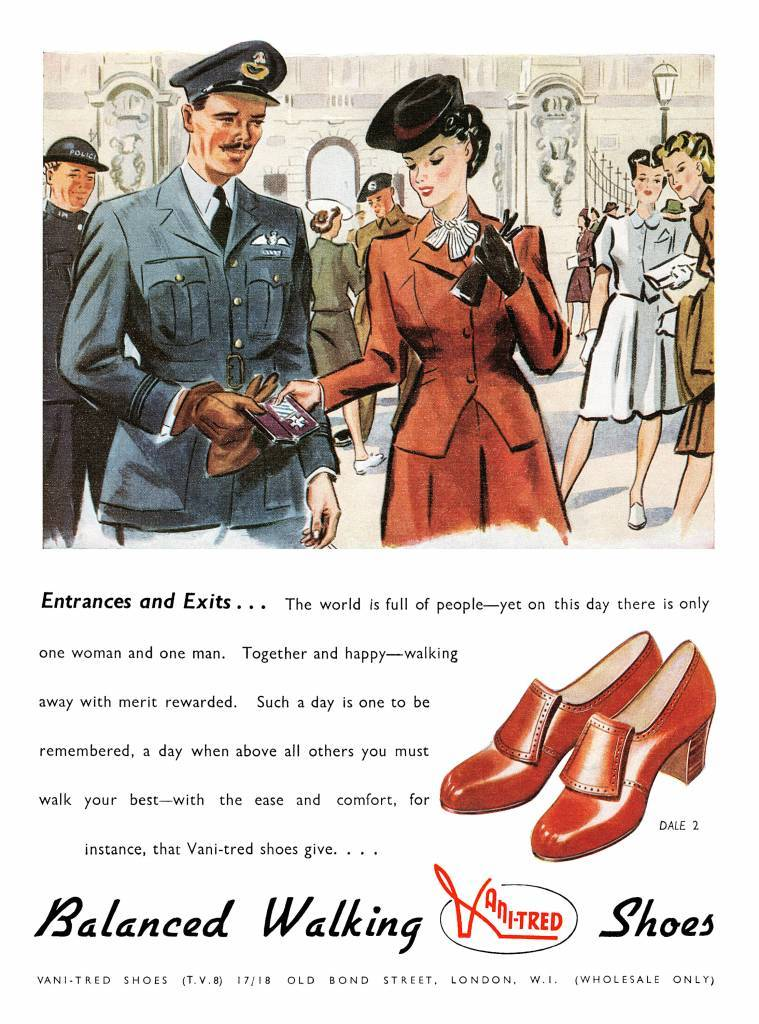 Vani-Tred Shoes ad from 1945