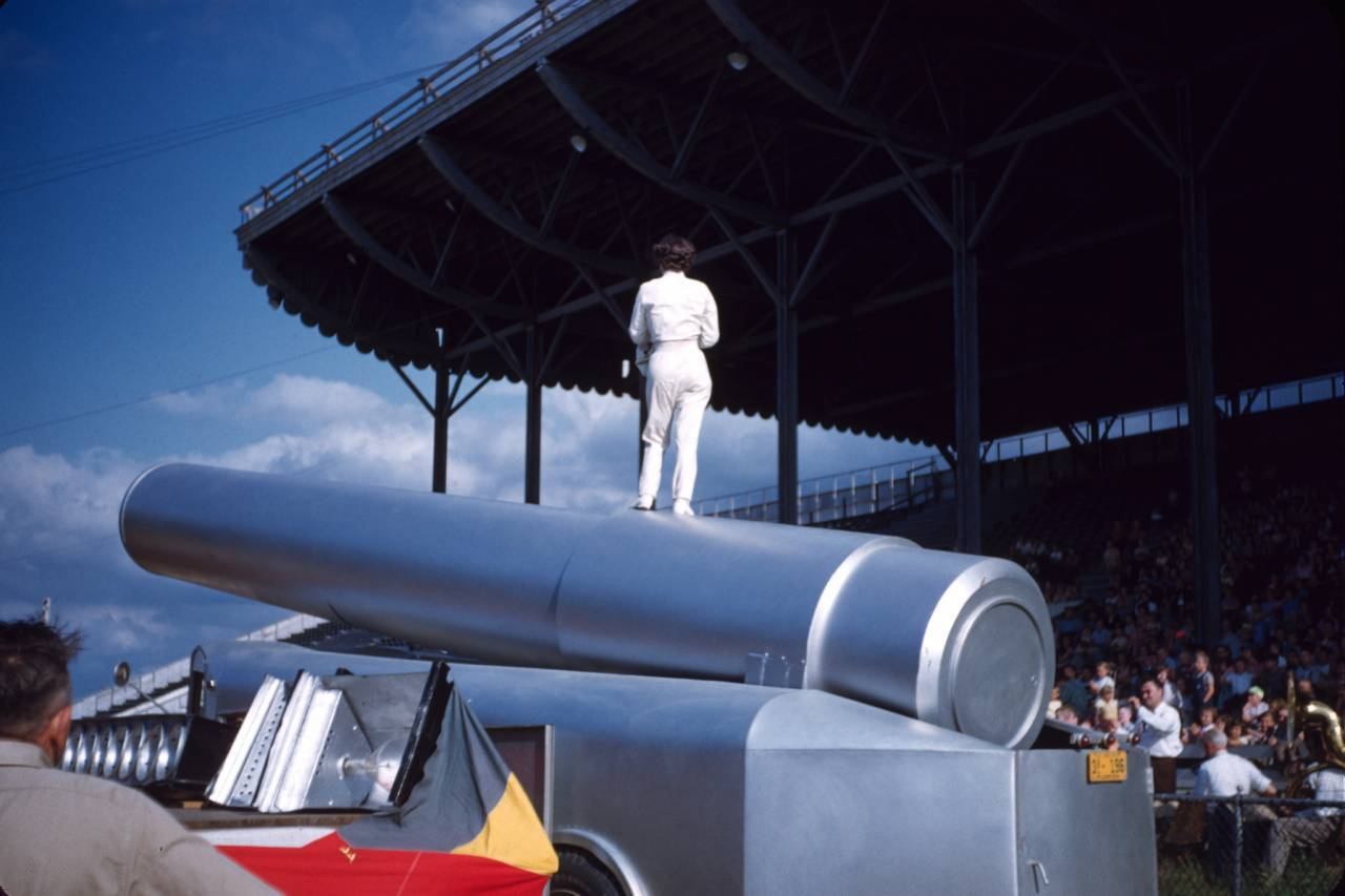 Victoria the human cannon ball lady c.1955