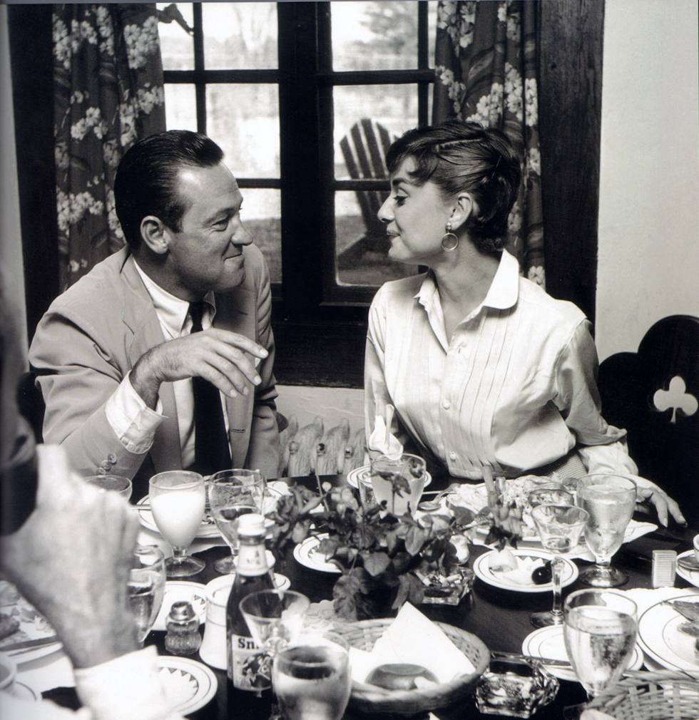 William Holden and Audrey Hepburn. Photograph by Mark Shaw, 1953