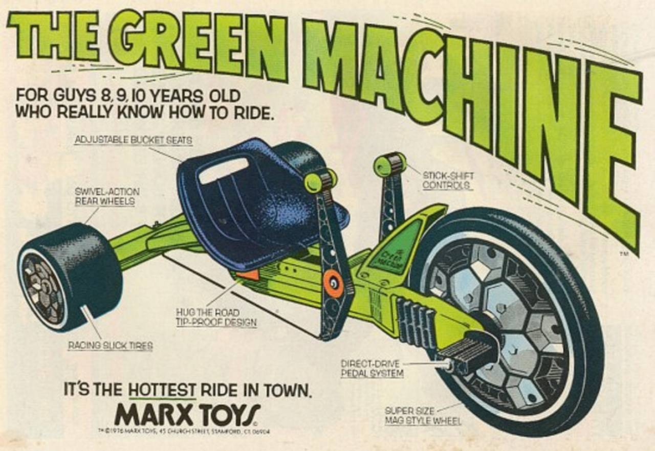 Big Green Machine >> The Hottest Ride In Town Remembering Marx S Green Machine Flashbak