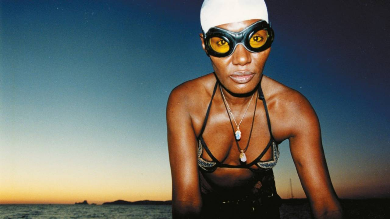 grace jones swimming
