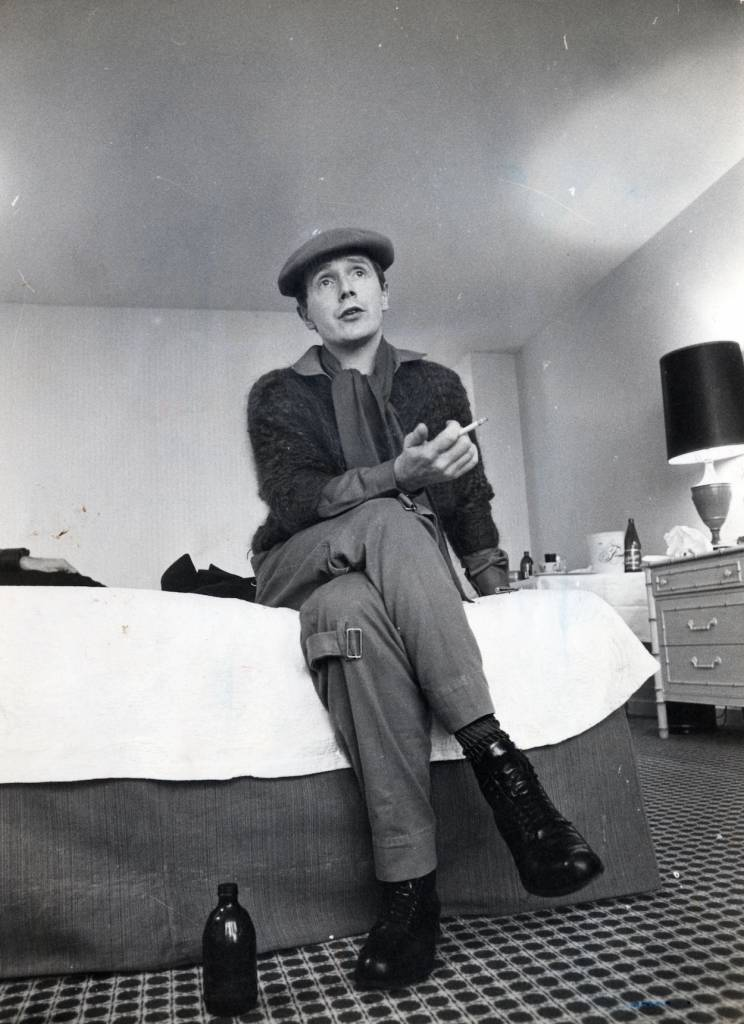 Malcolm McLaren in his hotel room, January 1978