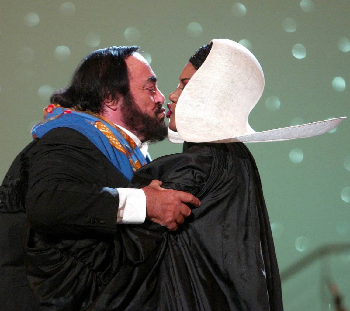 On May 28 2002, Grace Jones took the stage in Modena, Italy, for Luciano Pavarotti's Pavarotti and Friends