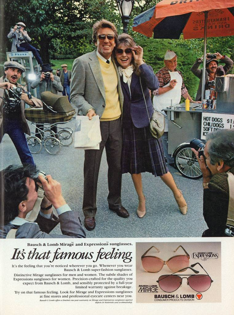 sunglass advert