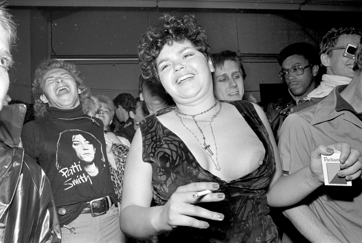 Fans of The Dils at the San Francisco Art Institute, 1978.