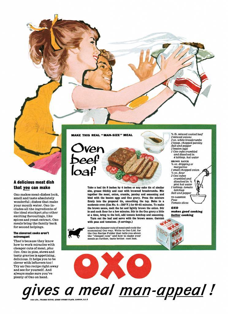 1959 Oxo ad Oven Beef Loaf