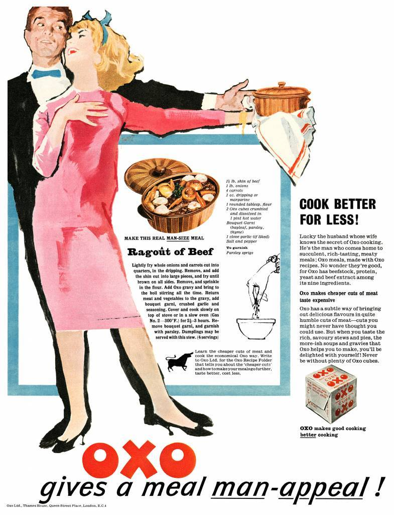 1959 Oxo ad Ragout of Beef