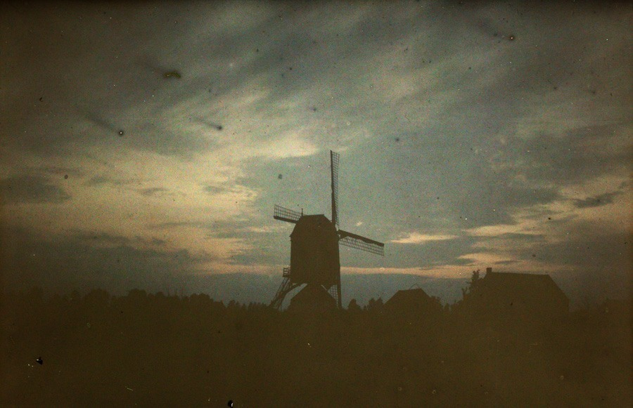 Alfonse Van Besten, Windmill at twilight c.1913